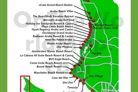 Map Of Aruba Resorts