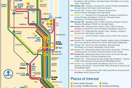 Map of australian gold coast gold coast bus map gumiabroncs Choice Image