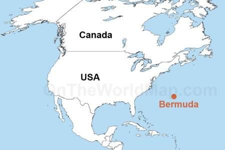Map Of The World Bermuda - Bermuda map usa