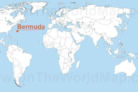 US State Abbreviations Bermuda Stamps Bermuda Triangle Map Map Of - Map of us and bermuda