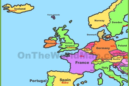 Map Of Western Europe Countries And Capitals - Western europe map quiz