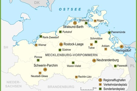 map of airports in germany