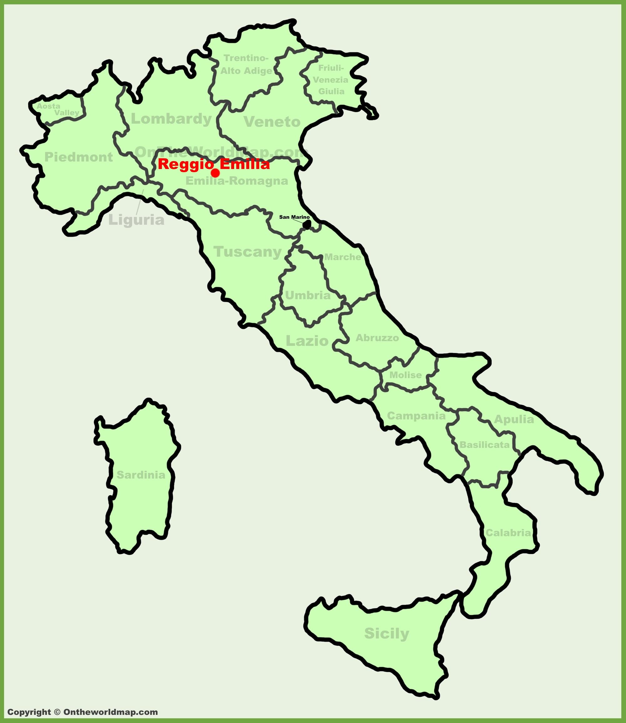 map reggio