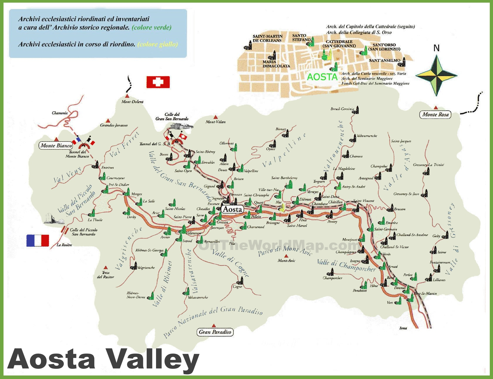 map of aosta