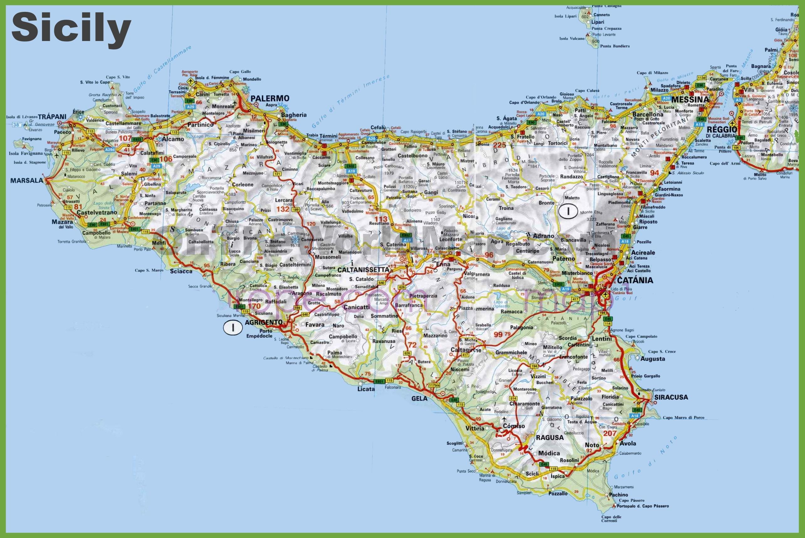 map sicily