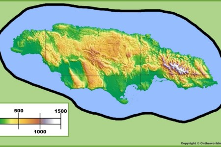jamaica physical map max