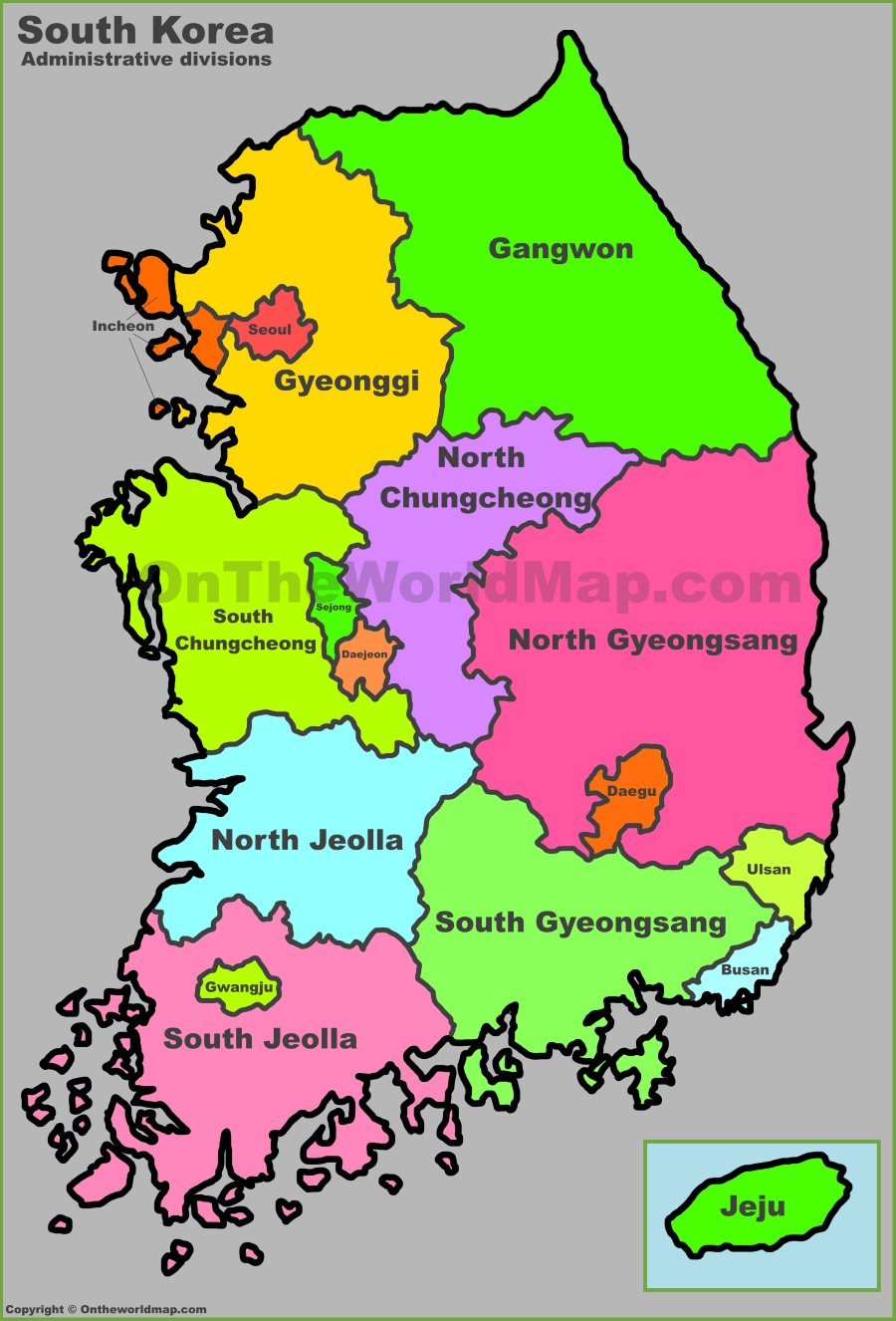 map with korea