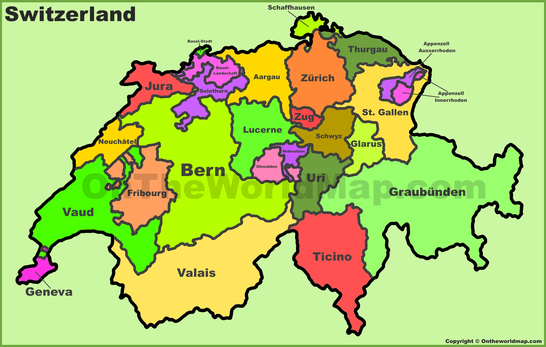 map swiss