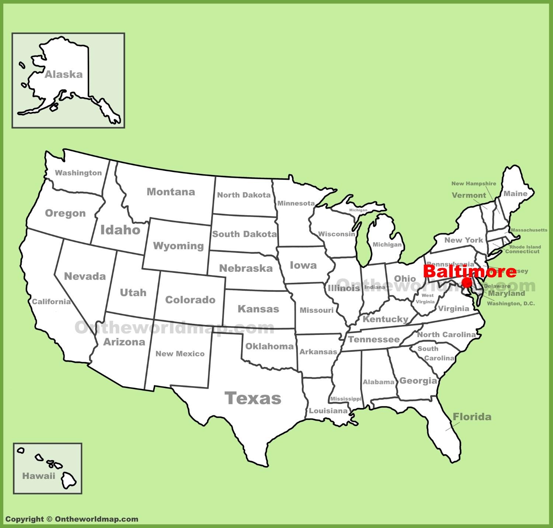 map to baltimore