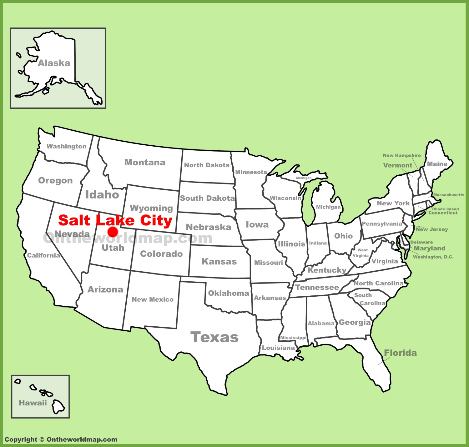 map salt lake city area
