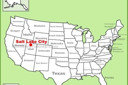 Salt Lake City Utah Map Usa Afputracom Maps Usa Map South - Salt lake city on us map