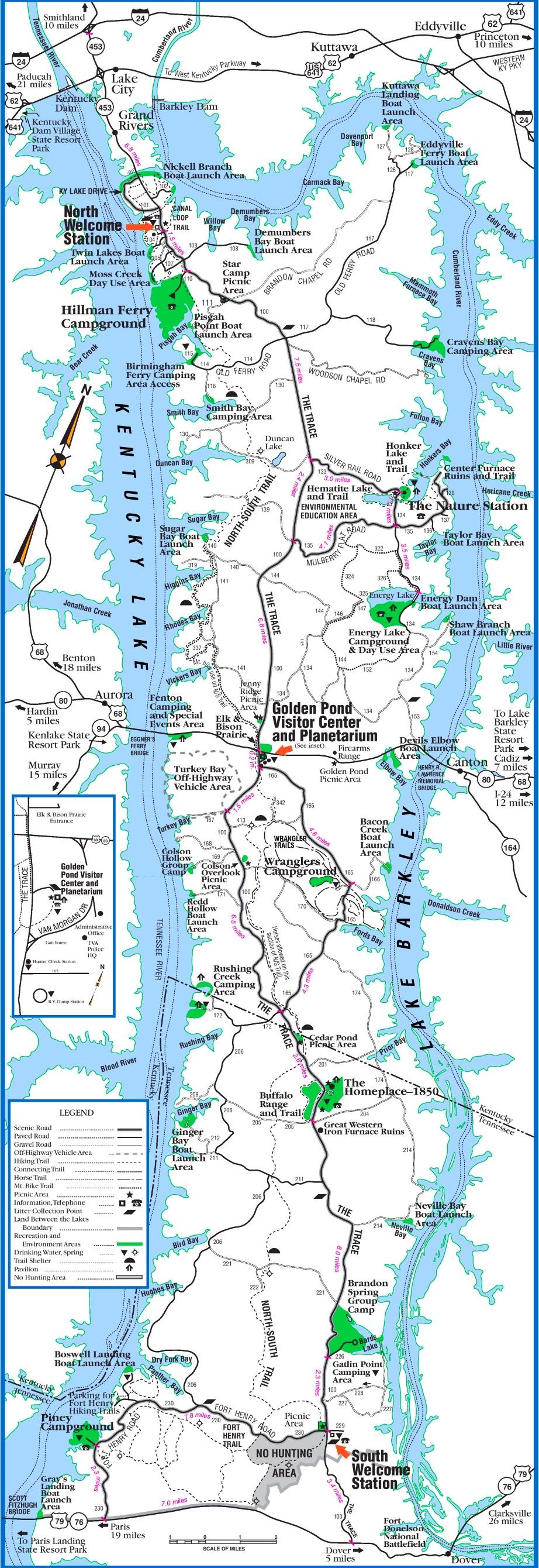 map of barkley lake
