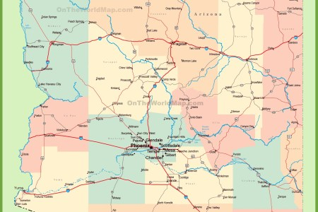 map of arizona cities and towns
