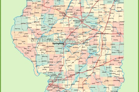 Map Of Towns In Illinois - Map of illinois cities and towns