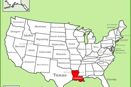Map Of Usa Louisiana - Us map louisiana