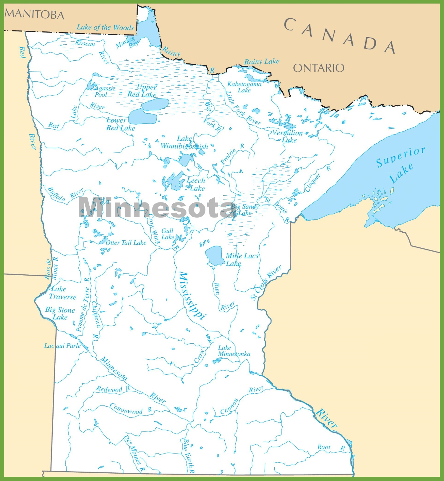 Map Minnesota Lakes Free Wallpaper For MAPS Full Maps - Mn lake maps free