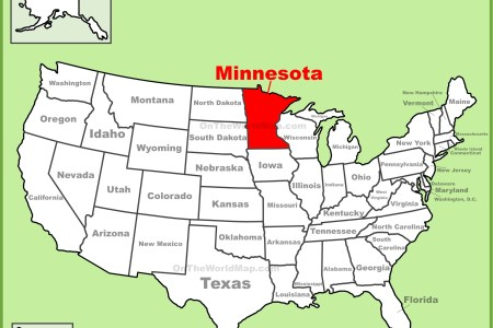 minnesota location on the u.s. map