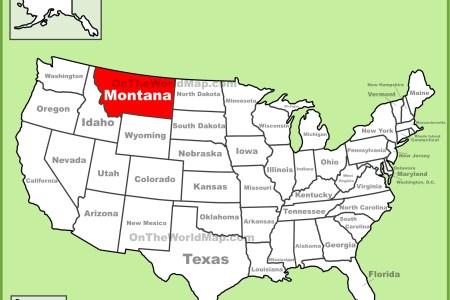 montana location on the u.s. map