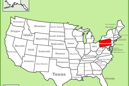 Map Of Usa Pennsylvania - Us map of pennsylvania