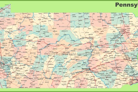 Map Of Pennsylvania Major Cities - Road map of pennsylvania