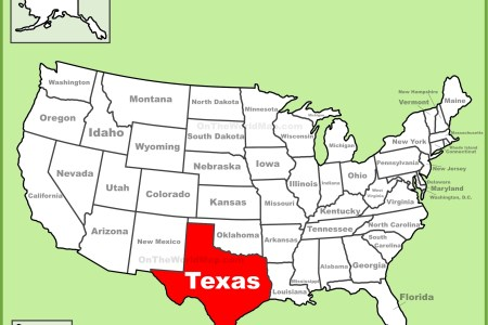 Map Of Usa Texas - Idaho location on us map