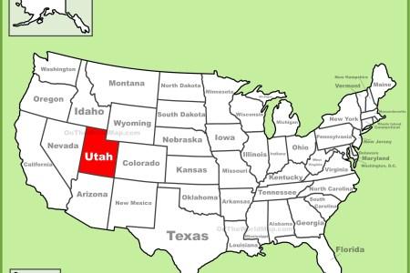 utah location on the u.s. map