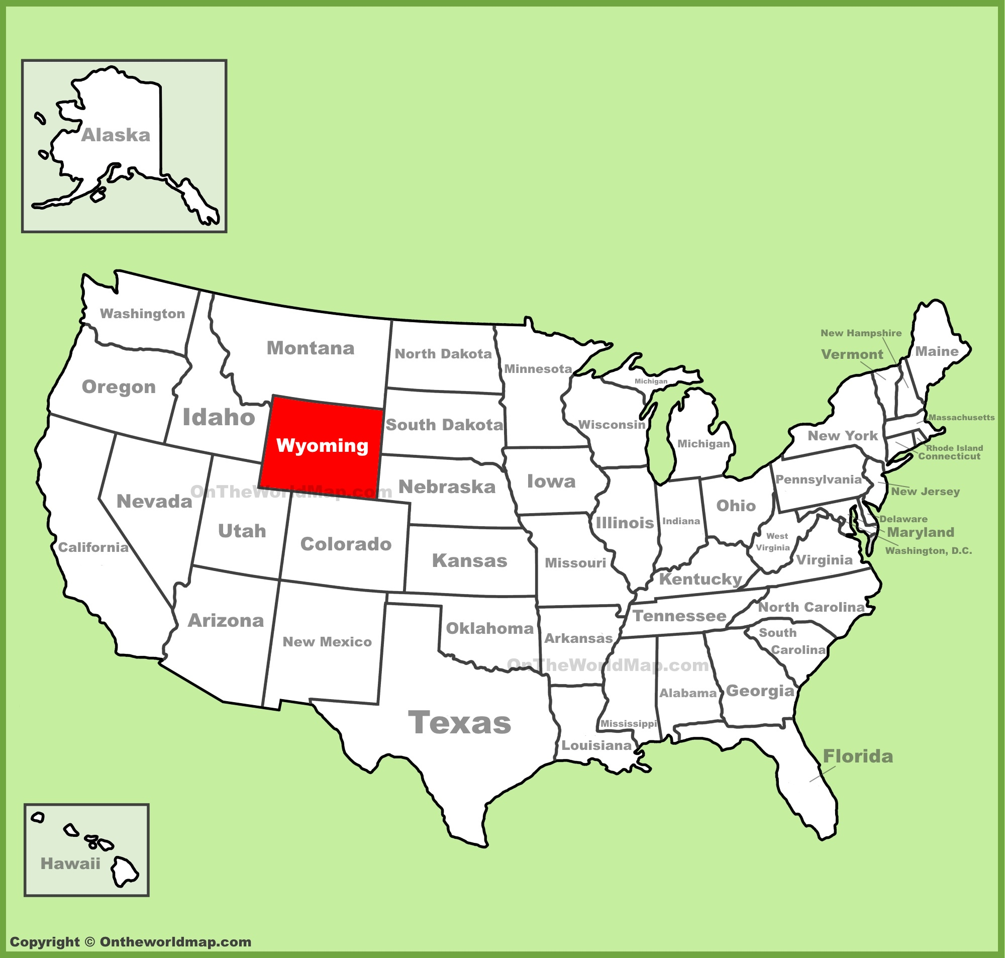 map to wyoming