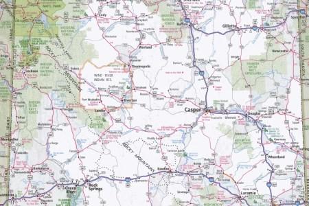 wyoming road map