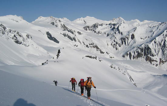 fairy meadows ski touring