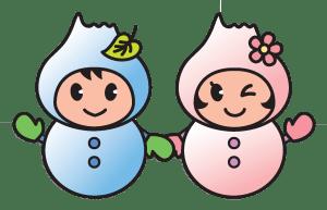 ポロポンちゃん雪だるまhaikei
