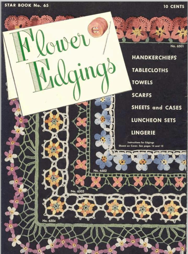 Free Vintage Crochet Edging Pattern : Crochet Edgings - Free Vintage Crochet Patterns Oombawka ...