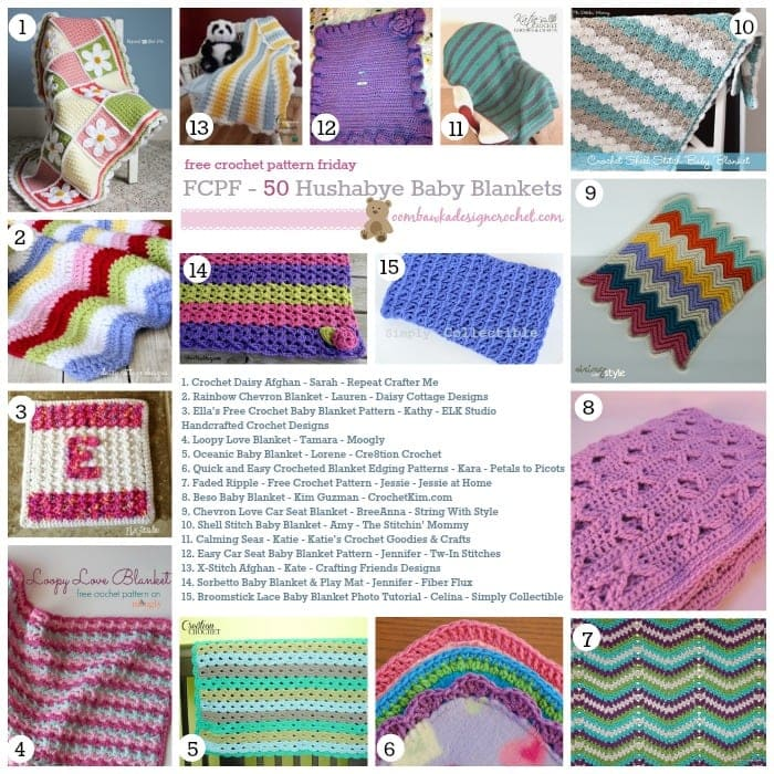 Free Crochet Pattern For Baby Car Blanket : 50 Free Crochet Baby Blanket Patterns (FCPF) Oombawka ...