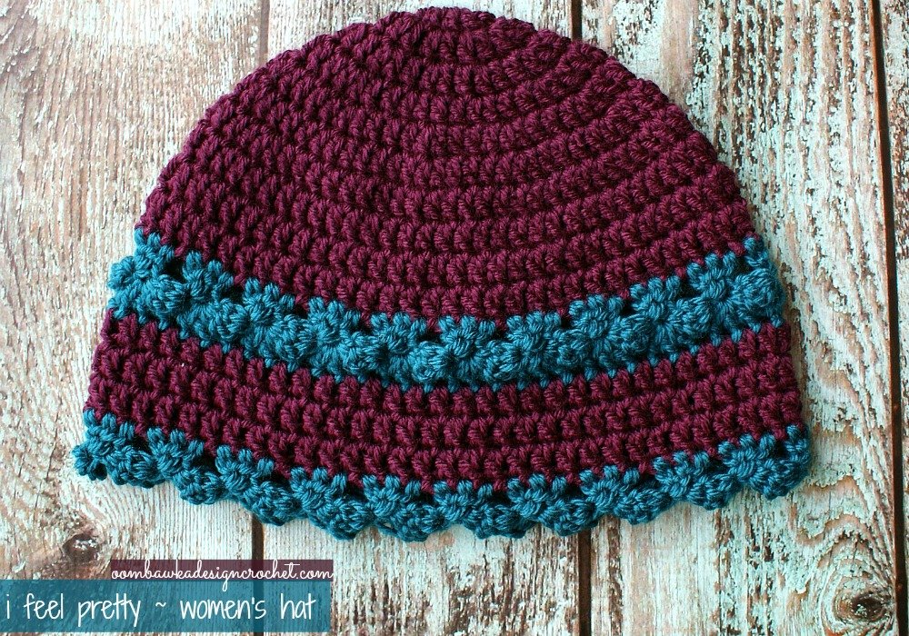 Crochet Pattern Womens Hat : I Feel Pretty - Womens Crochet Hat Oombawka Design Crochet