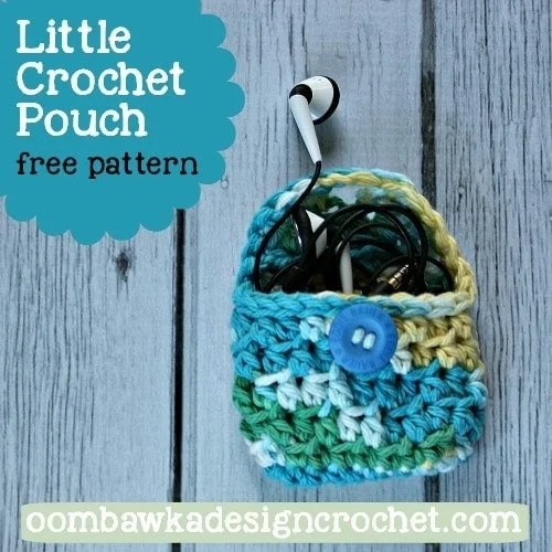 Small Crochet Pouch Pattern : Little Crochet Pouch - Free Pattern ? Oombawka Design Crochet