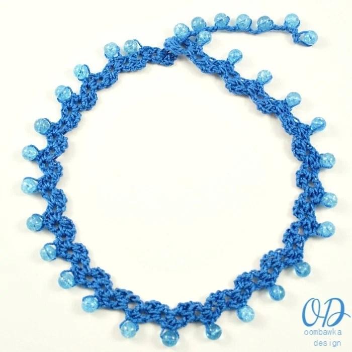 Free Crochet Pattern For Choker Necklace : Sweetheart Beaded Choker Crochet Pattern Oombawka Design ...