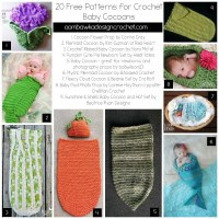 20 Free Patterns for Crochet Baby Cocoons