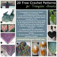 20 Free Crochet Patterns for Triangular Shawls