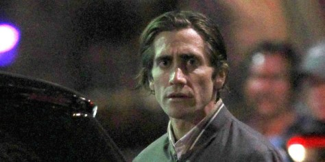 Jake Gyllenhaal looks scarily thin on the set of his new movie 'Nightcrawler' in Los Angeles
