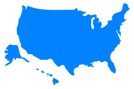 clipart usa map silhouette