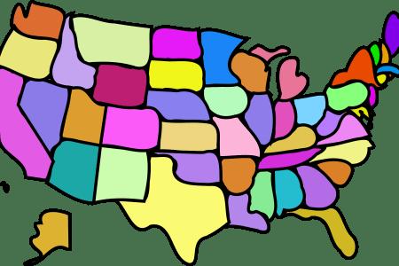 clipart u.s. map, cartoony