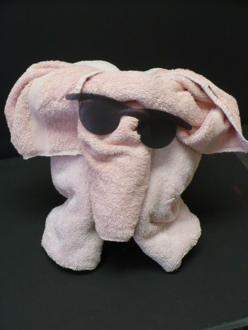 Pink towel elephant