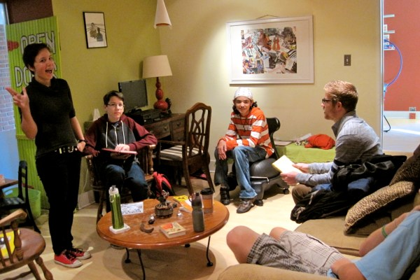 Our teen members enjoy the homey feel to our space.
