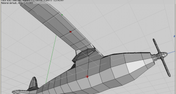 Figure 46: Select upper wing vertex, bevel for supporter