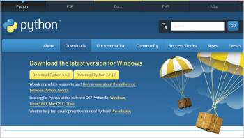 Figure 1 Python download page from the official portal