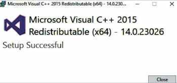 Figure 2 Visual C++ redistribution installation step 2