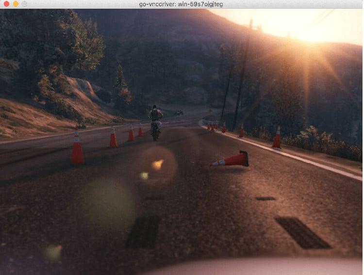 GTA V self-driving model