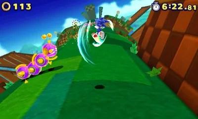 Sonic Battles the Worm.