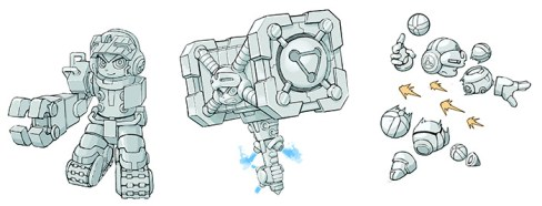 Mighty No. 9: Beck Transforms Concept Art
