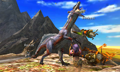 Monster Hunter 4 Ultimate | Great Jaggi Attack