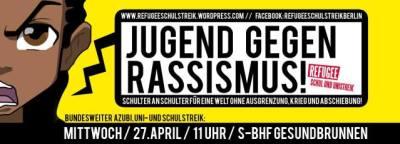 refugee Uni schulstreik berlin